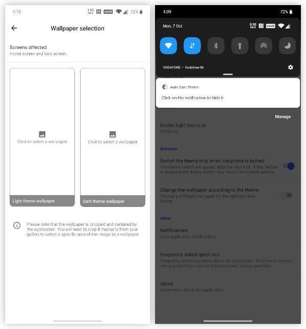 Set Dark Mode Wallpaper on Android 10