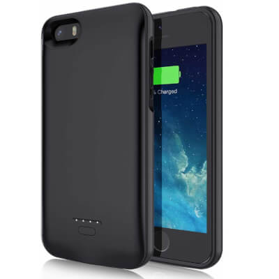 JUBOTY 4000mAh Battery Case for iPhone 5 5S SE