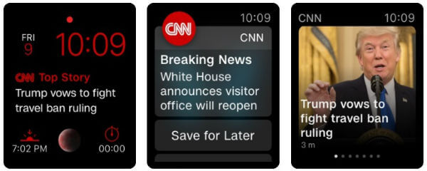 CNN Apple Watch News App