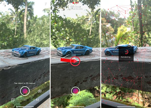 Create 3D Photo using Fyuse app on iPhone