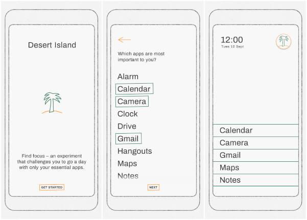 Desert Island Experimental Google App