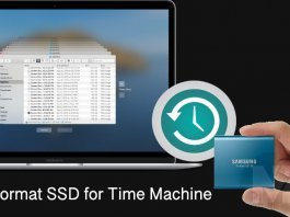 Format SSD for Time Machine