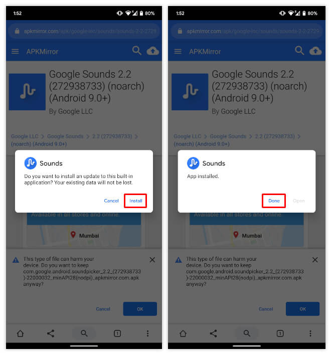 Google Sounds 2.2 APK Installation