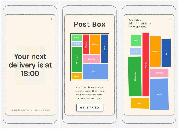 Post Box Digital Wellbeing app