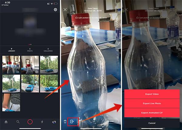 Save 3D Photo on Fyuse App