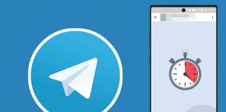 Telegram self destructing message