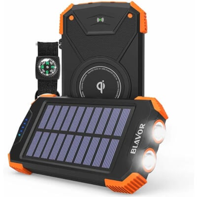 BLAVOR Wireless Solar Power Bank for iPhone 11
