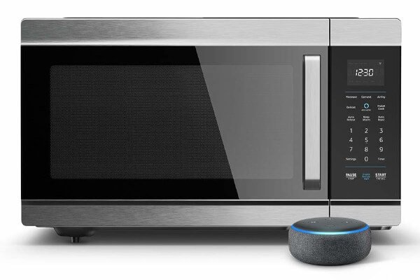 Introducing Amazon Smart Oven, a Certified for Humans device - 4-in-1 convection oven, microwave, air fryer, and food warmer, plus Echo Dot