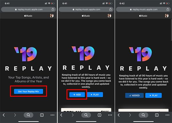 Create Apple Music Replay Playlists using Music Web on iPhone