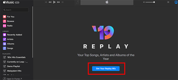 Create Replay Mix on Apple Music Web Beta