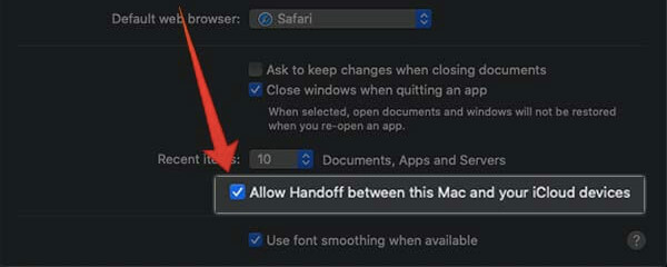 Enable Handoff on Mac