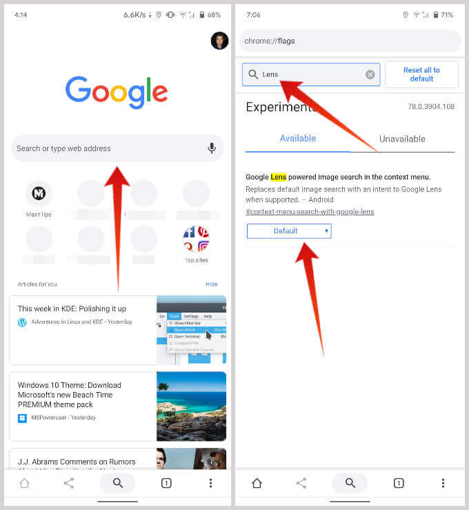 Google Lens Image Search Chrome Flags