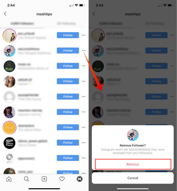 Remove Instagram Followers