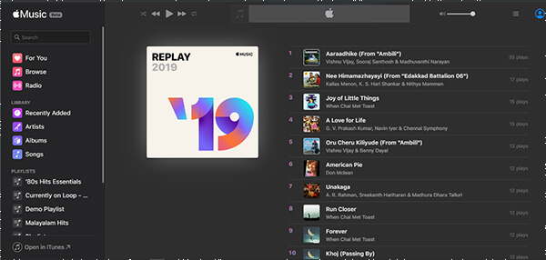 Replay Mix on Apple Music Web