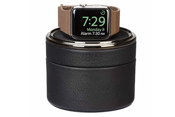 Sena Leather Watch Travel Charging Case for Apple Watch best tech gifts