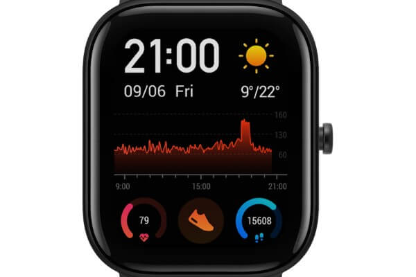 Activity Tracking on Amazfit GTS Smartwatch