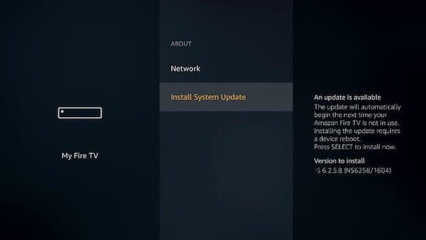 Fire Stick Software Update