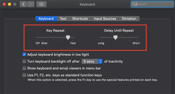 Change Keyboard Key Repeat Delay on MacOS
