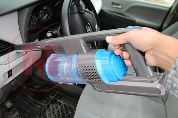 Cleaning Car using Levoit Vacuum Cleaner