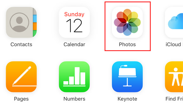 Click Photos from iCloud