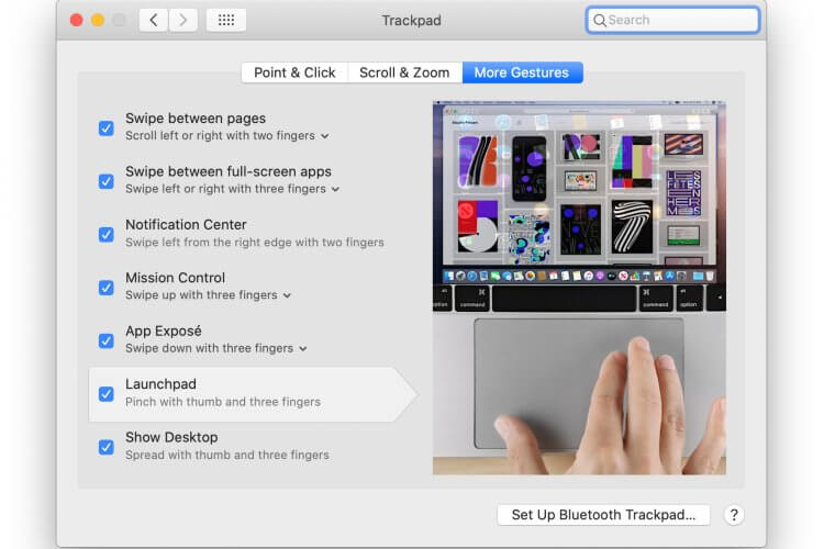 MacBook Trackpad Customization