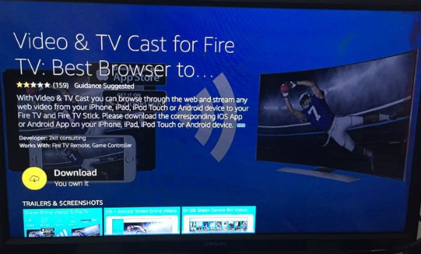 Video TV Cast-for-Fire Stick TV