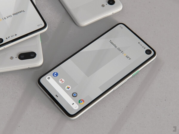 Google Pixel render with camera hole in display