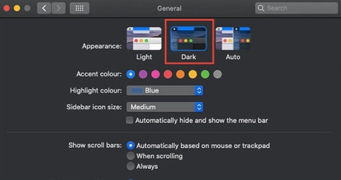 Enable Mac Dark Mode on macOS Mojave and Catalina