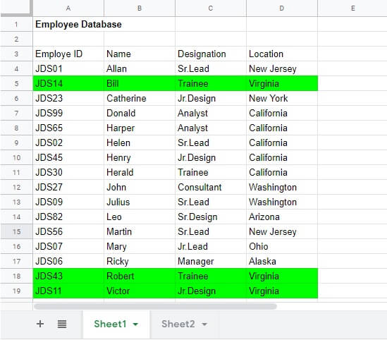 Google sheet conditional formatting custom formula result
