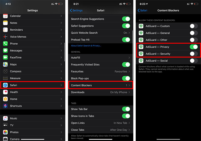 How to Prevent Cookie Tracking on iPhone using AdGaurd