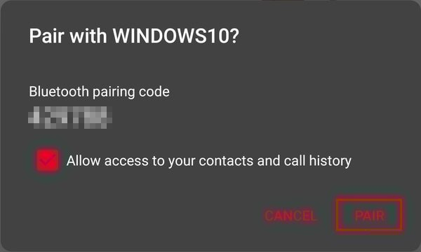 Bluetooth pairing Android and Windows With Bluetoo