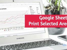 Print Selected Area Google Sheets