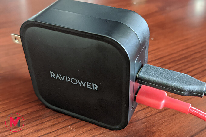 Two devices charging at a time using RAVPower GaN Charger Gallium Nitride Charger