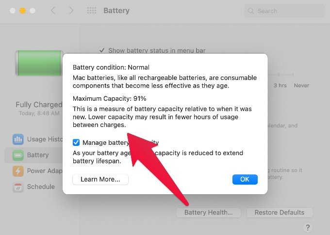 How To Check Battery Health On Macbook Mashtips