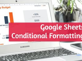Conditional Formatting on Google Sheets