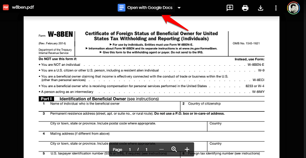 open pdf in google docs format