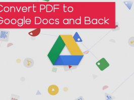 Convert PDF to Google Doc and Back Again
