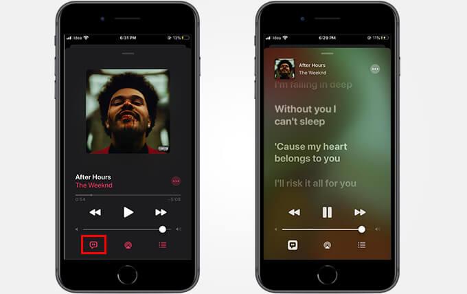 Cách xem toàn văn Apple Âm nhạc 3
