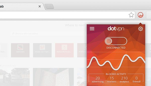 dot vpn extension in chrome browser