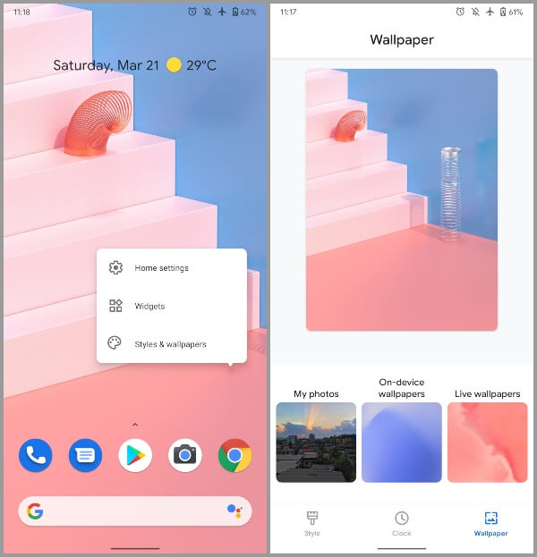 Android 11 Developer Preview 2 Pixel Theme Features