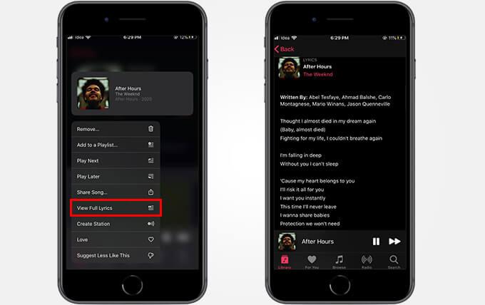 View full song lyrics on Apple Music using Apple Music Lyrics