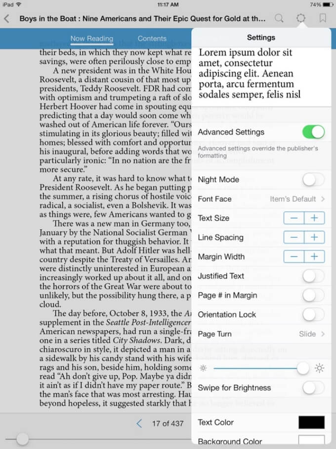 Bluefire ePub reader for iPad