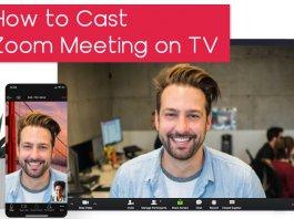 Cast Zoom Meeting TV