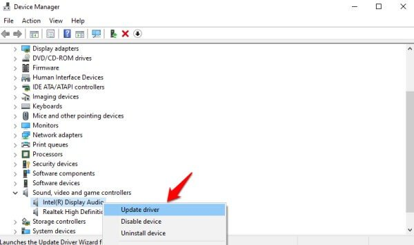 updating sound drivers in windows 10