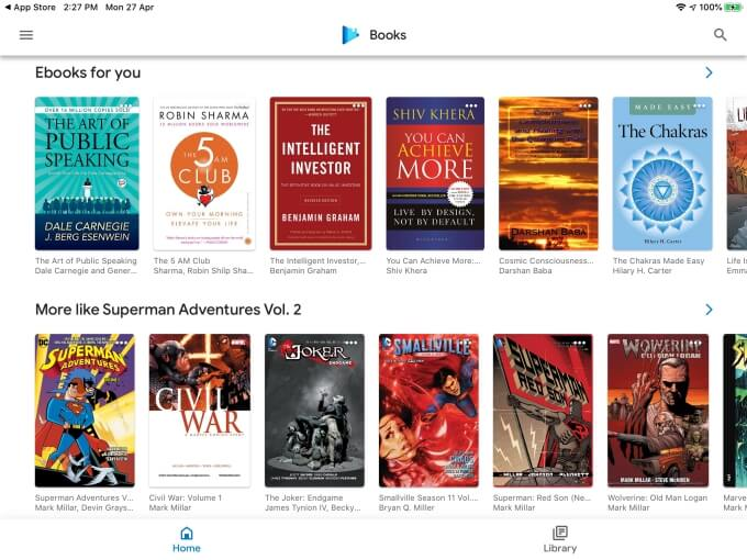 ePub reader for iPad