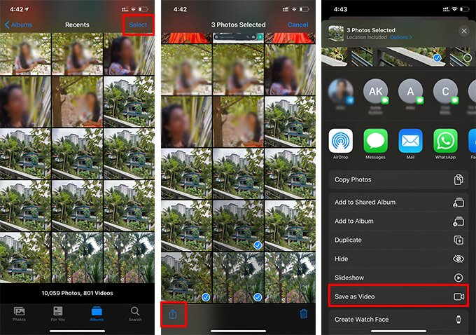How to Make a Video Using Multiple Live Images from Photos App on iPhone