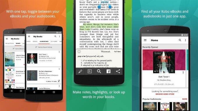 Kobo Books ePub reader for Android