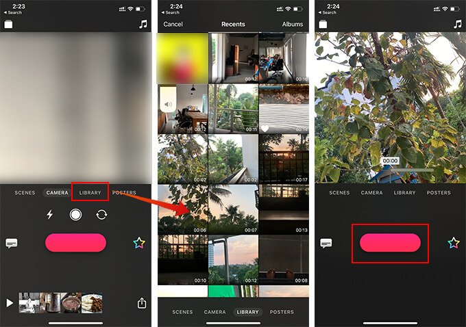 Merge Videos on iPhone with Clips App Add Footage
