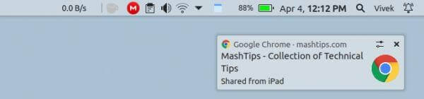 Chrome send link from phone to desktop notification