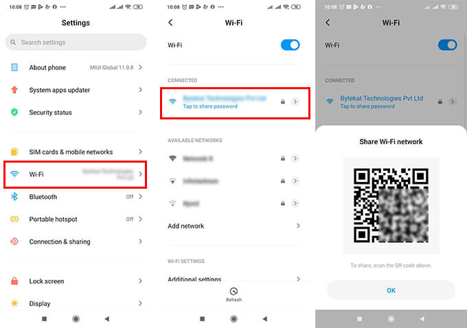 Share Wi-Fi Password from Android to iPhone Using QR Code